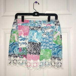 Lilly Pulitzer Skirt patchwork cotton mini skirt